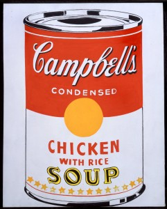 Andy Warhol, Campbell's Soup Can (Chicken With Rice)  1962 Collezione Brant Foundation © The Brant Foundation, Greenwich (CT), USA © The Andy Warhol Foundation for the Visual Arts Inc. by SIAE 2014